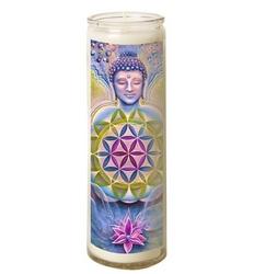 Bougie en verre – Bouddha Zen