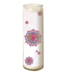 Bougie en verre – Mandala